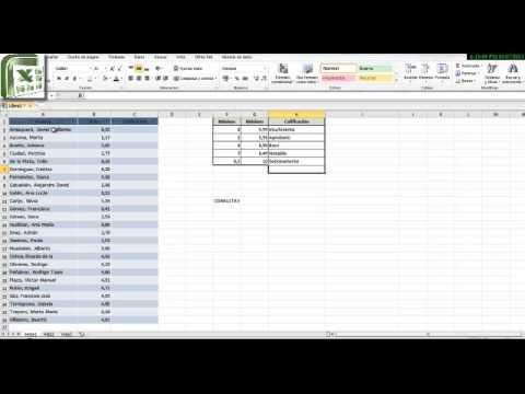 TUTORIALES EXCEL - Convertir notas en calificaciones - YouTube