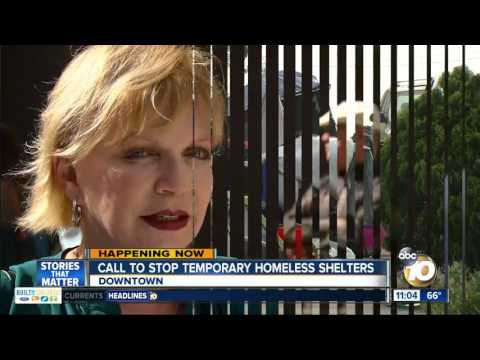 Call to stop temporary homeless shelters