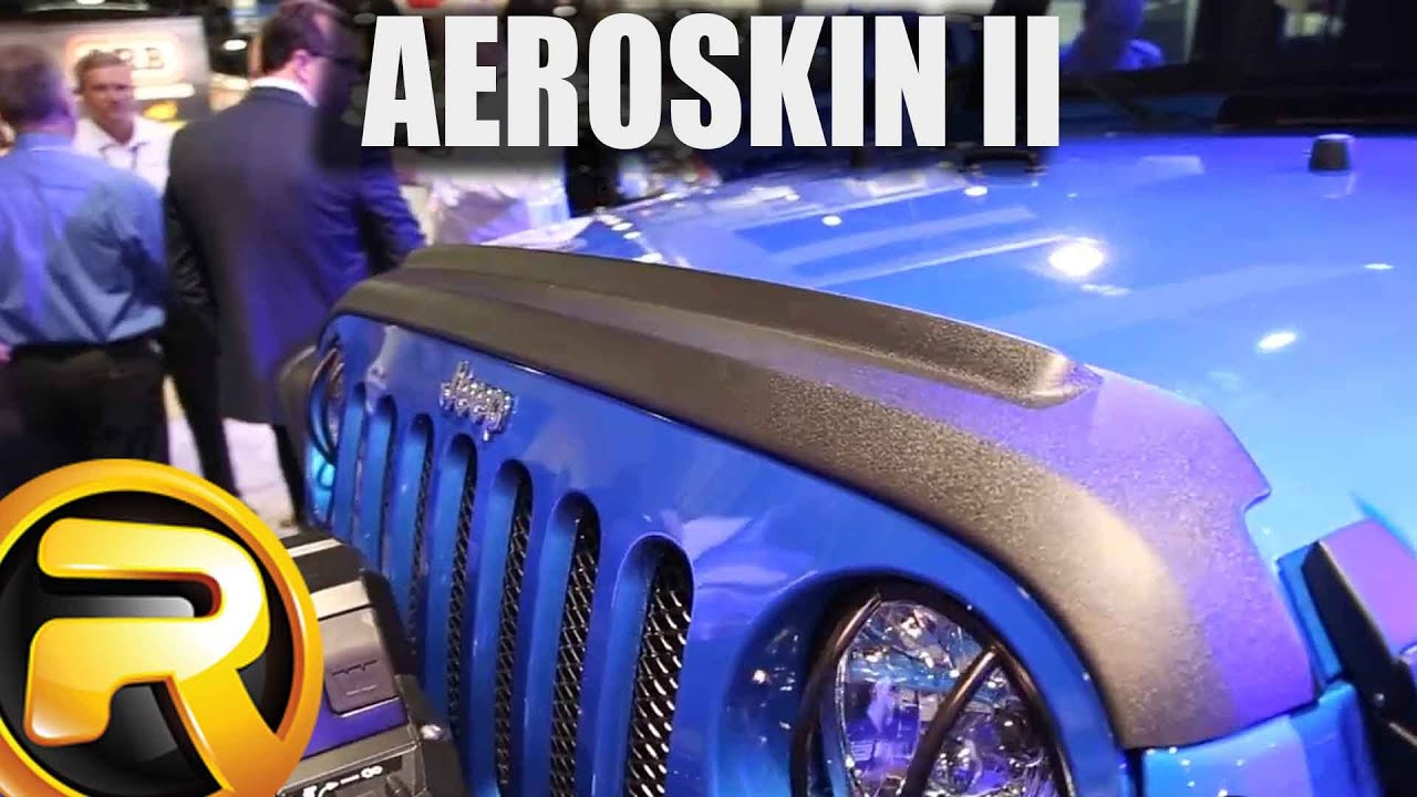 Avs aeroskin ii bug shield at sema 2015 realtruck com