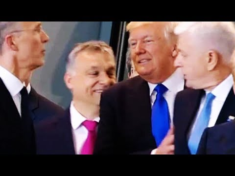 Trump Pushes NATO Leader Out Of His Way (VIDEO)