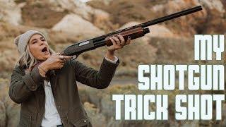 MY SHOTGUN TRICK SHOT | 12 GAUGE SHOTGUN SHOOTING | GIRLS SHOOTING SHOTGUNS