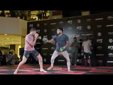 UFC 224: Kelvin Gastelum Open Workout Highlights - MMA Fighting