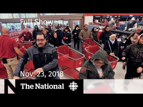 The National for Friday, November 23 — Contaminated Lettuce, Black Friday, Pop Panel