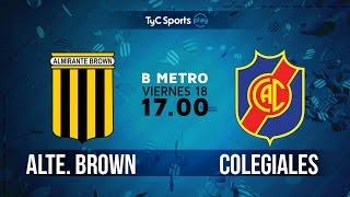 Almirante Brown vs Colegiales full match