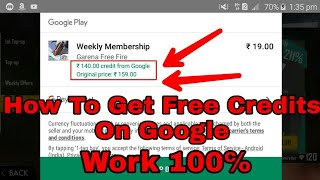 How To Get Free Google Play Credit Rs-140 And Rs-75 ||Most Watch