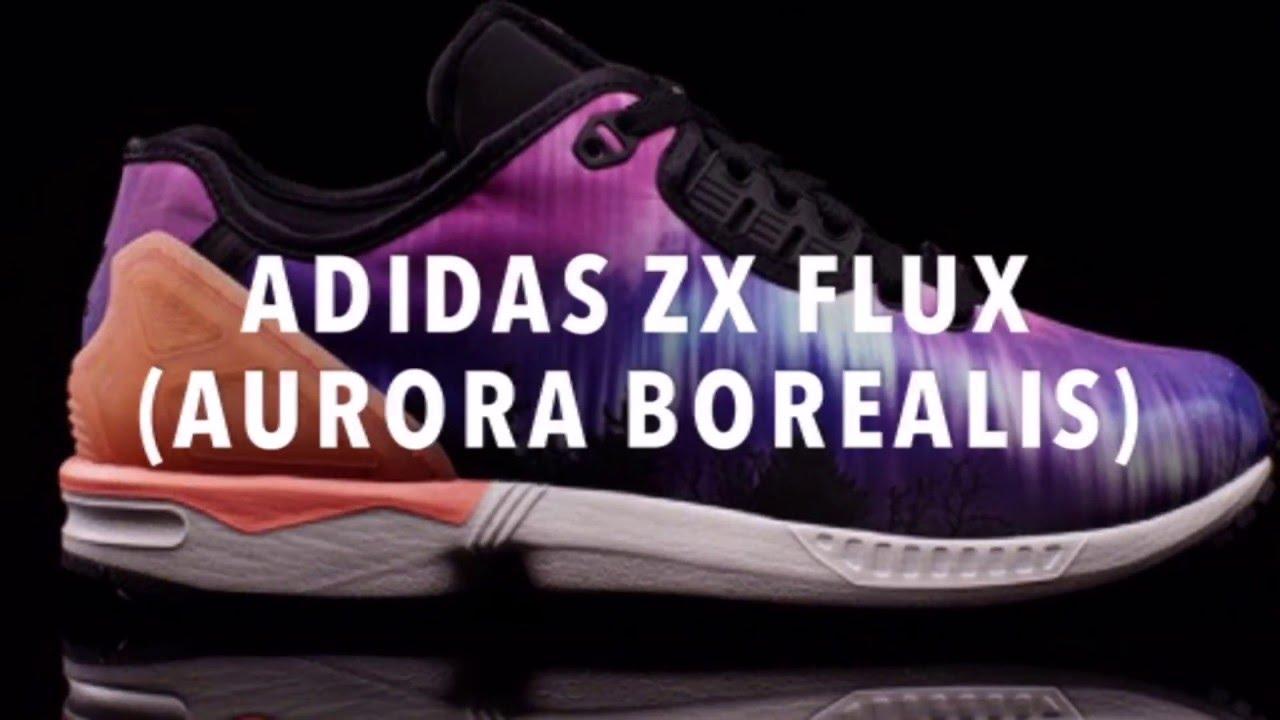 huge discount 2c51d 8c76f ADIDAS ZX FLUX (AURORA BOREALIS) SNEAKERS NEWS
