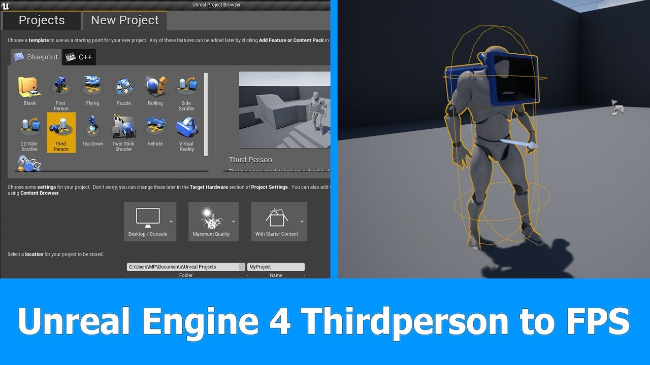 Unreal Engine Thirdperson To First Person Camera (FPS)