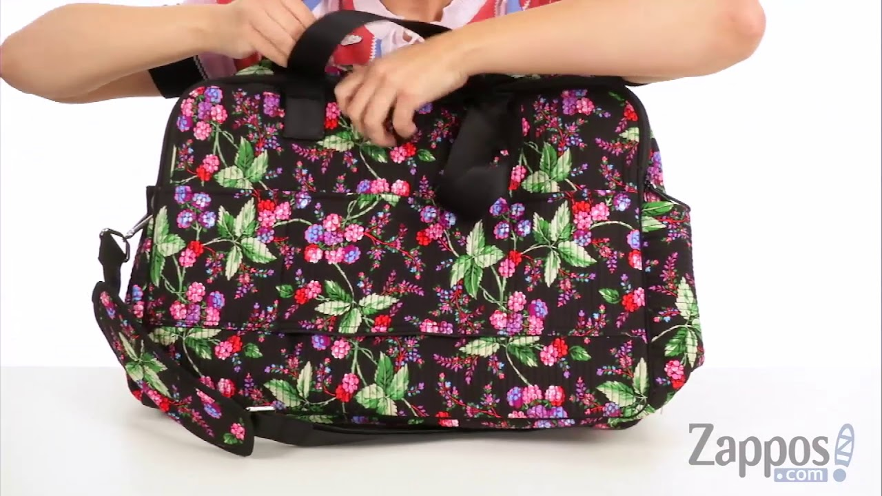 Vera Bradley Luggage Iconic Deluxe Weekender Travel Bag SKU  9001084 ... b928acfa7bbd6