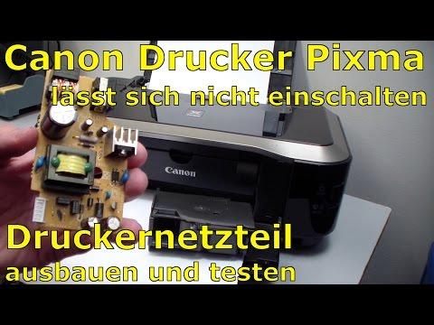 Canon Pixma Drucker ohne Funktion - defekt? Netzteil ausbauen und testen