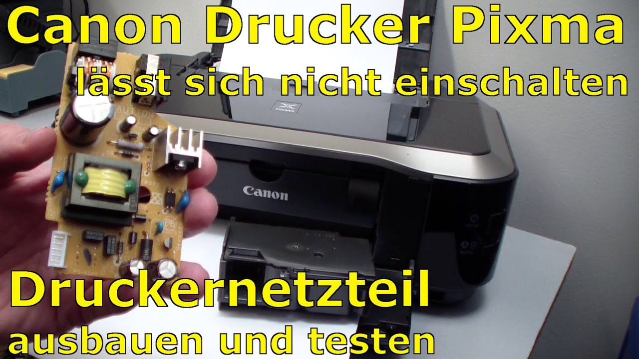 canon pixma printer out of order power supply testing [ 1280 x 720 Pixel ]