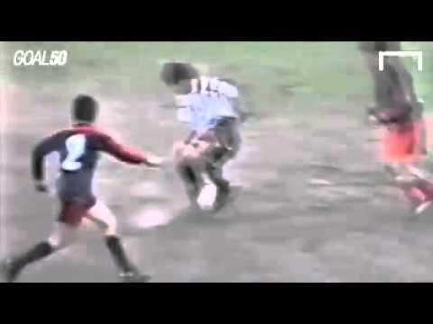 ¡Imperdible! Mirá el golazo inédito de Messi cuando tenía sólo 12 años