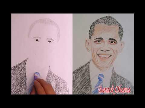 Barack Obama- President of America-Draw Barack Obama- President of America-Paint Barack Obama.
