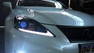 2011 2012 Lexus is250 Headlight LED DRL Dimming Function