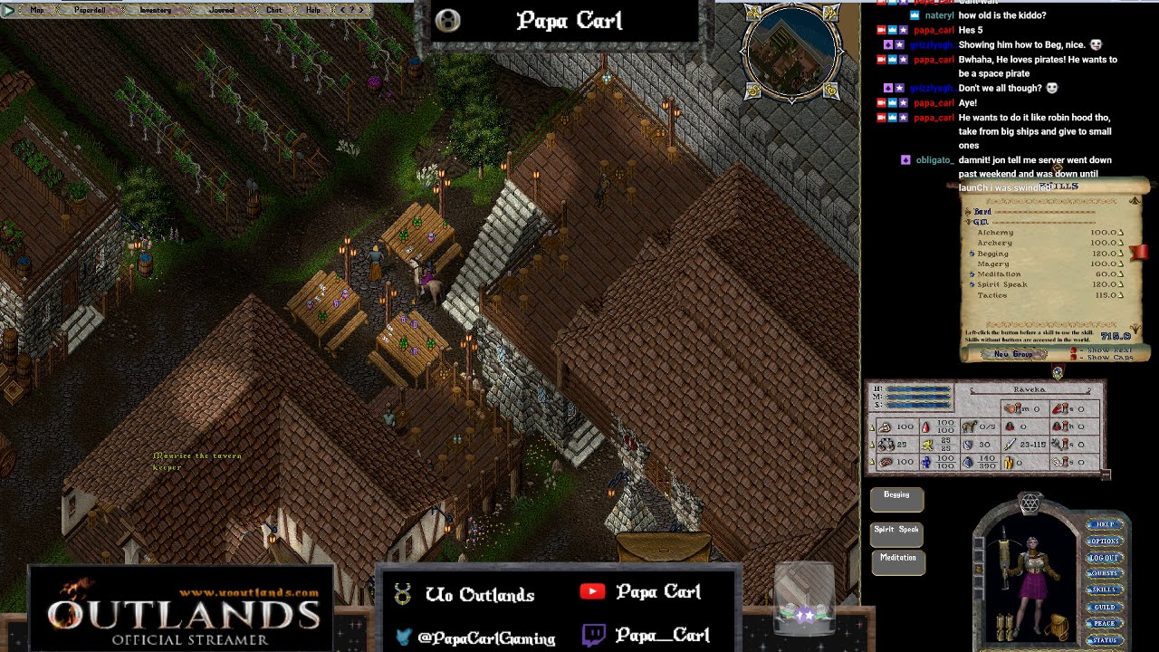UO Outlands, Chill Stream, Dorking around Outlands, Last stream till  launch!!!!
