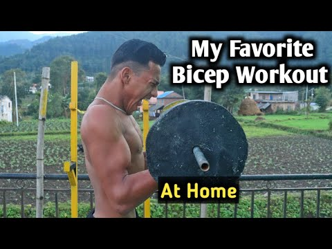 My Favorite Bicep Workout | HomeMade Gym | ANISH FITNESS