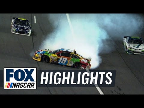 Kyle Busch and Joey Logano Wreck Out - All-Star Race - 2014 NASCAR Sprint Cup