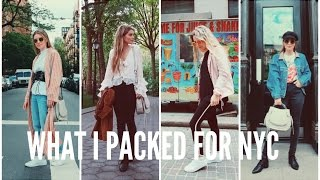 What I Packed For NYC || Spring 2017