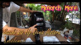 Suzuki 20Hp Deniz Motoru incelemesi DF20AS