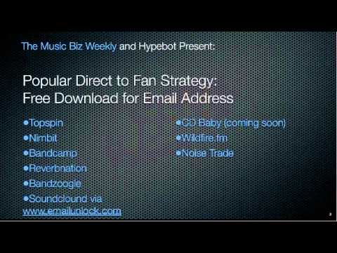 Direct to Fan Music Marketing - Email Exchange for a Download