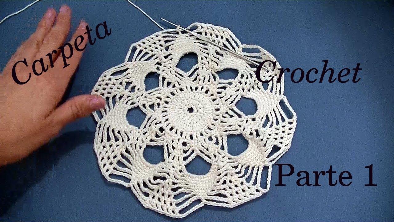 CARPETA Redonda a #crochet o ganchillo PARTE 1 tutorial paso a paso ...