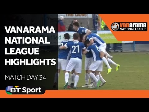 Vanarama National League Highlights Show: Matchday 34