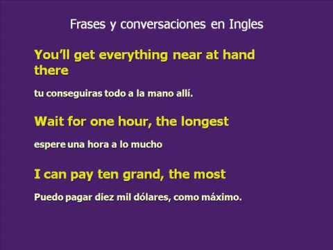 Frases En Inglés Y Expresiones 1 Curso De Ingles Youtube