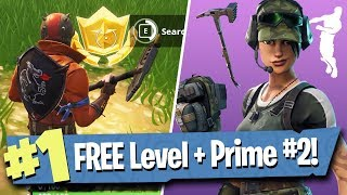 TWITCH PRIME PACK #2 + FREE BATTLE PASS TIER (Week 2 Challenge Guide) - Fortnite Battle Royale