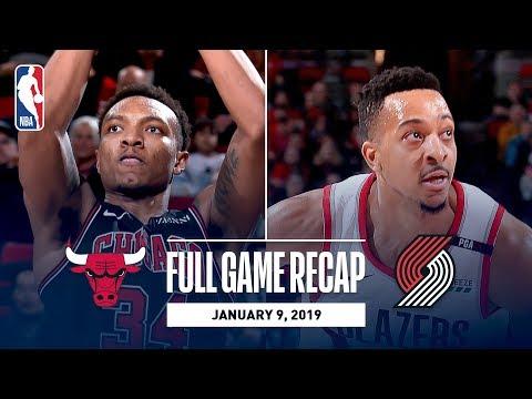 Full Game Recap: Bulls vs Trail Blazers | CJ McCollum Handles Are On Display In Portland