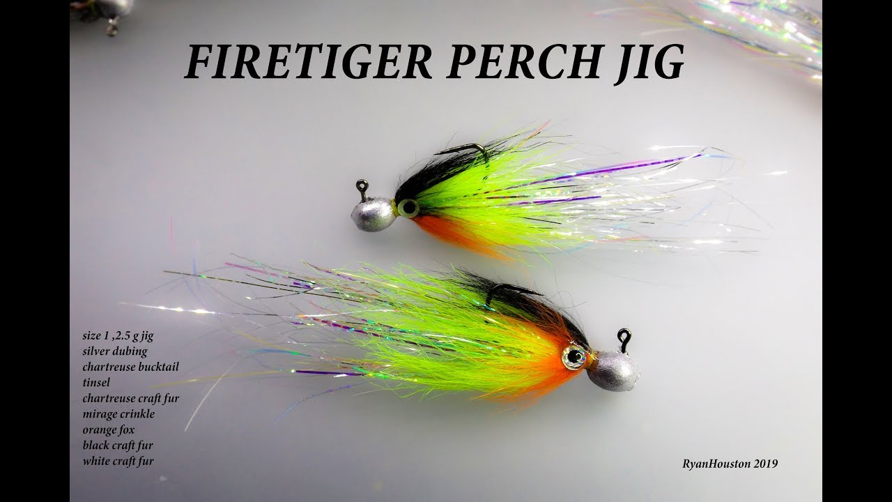 TYING THE FIRETIGER PERCH JIG FLY WITH RYAN HOUSTON 2019