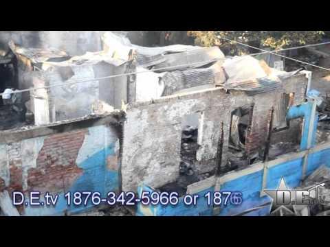 Barry Street Kingston Jamaica Fire 2016