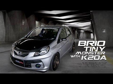 Honda Brio ถึงรถจะเล็กแต่ก็มาพร้อมกับความแรงเครื่อง K20A  By BoxzaRacing.com