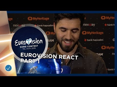 Eurovision React: Second Semi-Finalists react to Eurovision entries! (PART 1)