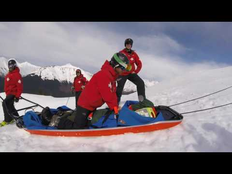 Ski patrol demonstrates high-performance CPR