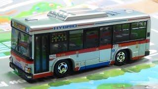 特注トミカ 東急バス いすゞエルガハイブリッド 高津営業所1446号車 マップ付
