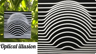 OPTICAL ILLUSION.Polymer clay PENDANT. Ilusión óptica . Colgante de arcilla polimérica.