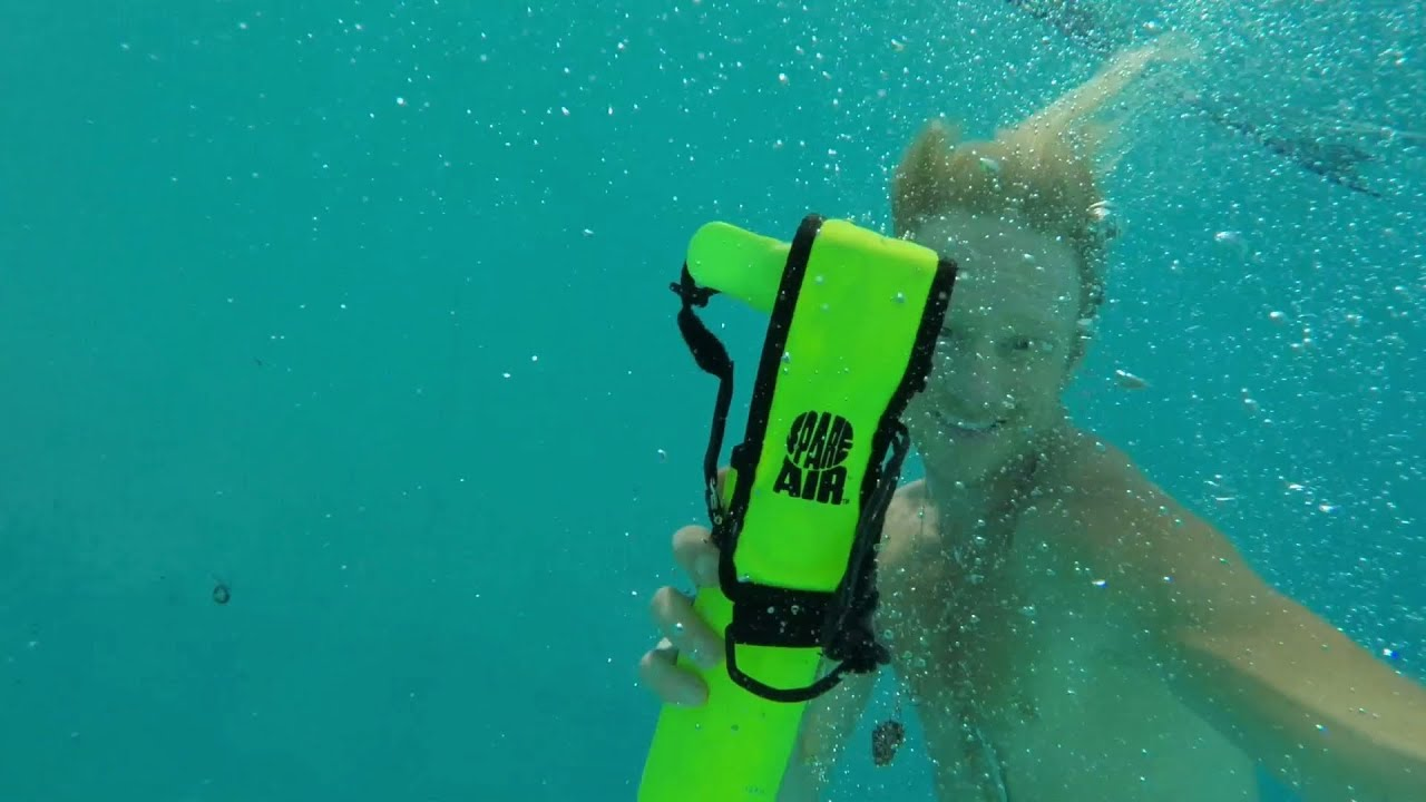 How To Use Spare Air Emergency Scuba Tank In Pool Youtube
