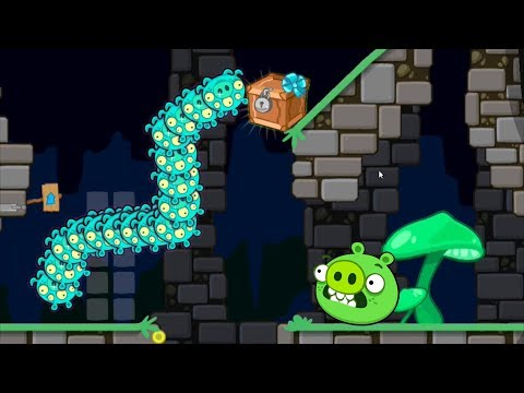 Bad Piggies - ALIEN JUMPING ON CRATE! CAKE RACE MIGHTY EAGLE!