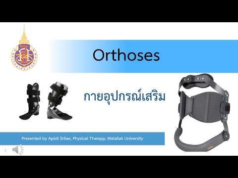 กายภาพบำบัด : Orthoses (กายอุปกรณ์เสริม)