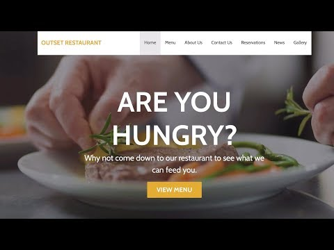 Creating A Restaurant Website (table Booking, Menu & Mobile-friendly)