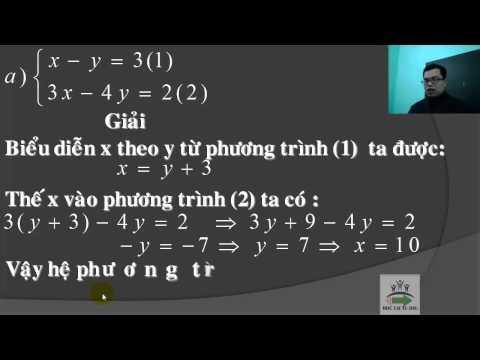 Đại số 9 -Giải hệ phương trình bằng phương pháp thế - bài tập sgk