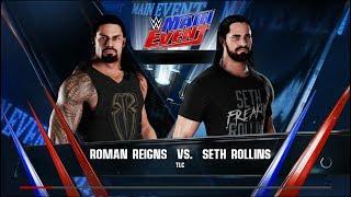 WWE 2k18 Roman Reigns vs Seth Rollins TLC