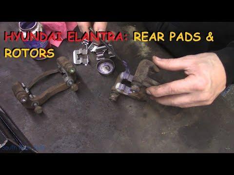 Hyundai Elantra: Rear Brake Pads & Rotors