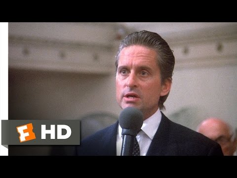 Wall Street (4/5) Movie CLIP - Greed Is Good (1987) HD