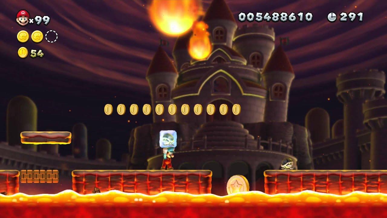 New Super Mario Bros U Peach S Castle 1 Meteor Moat Star