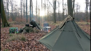 Wild Camping | Canvas Lavvu | Dutch Oven Cooking & Woodburner