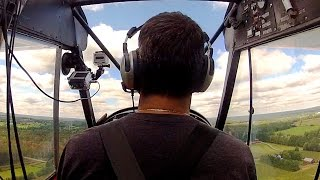 Flying with NO instruments from BACK SEAT - Super Cub - Tail wheel training - ATC audio