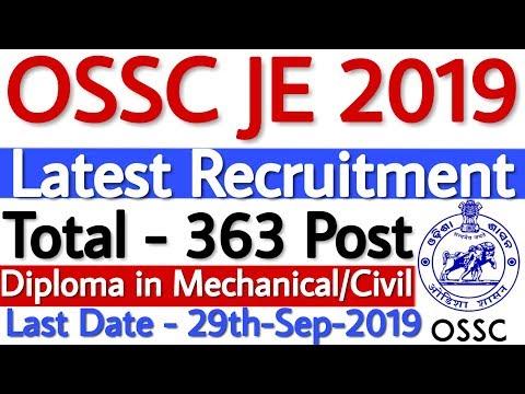 OSSC JE Recruitment 2019   OSSC Recruitment 2019 Junior Engineer 363 Vacancy - Apply Online