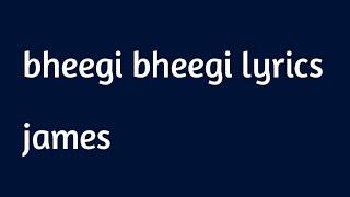 bheegi bheegi james lyrics