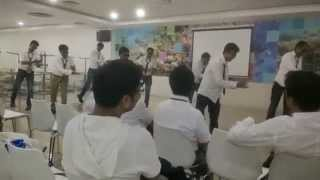 Funny dance at Company event