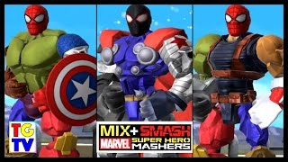 Marvel Super Hero Mashers Spider-Man Captain America (Battles Edited) | Mix + Smash